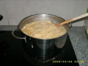 Spaghettinya udah matang. (photo by Tarida)